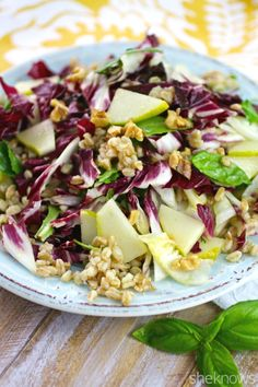 ... Monday: Farro, radicchio and pear salad with lemon-basil vinaigrette
