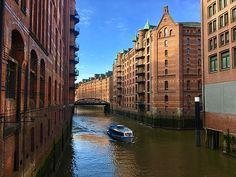 Speicherstadt Hamburg by MarinaUsmanskaya.  Speicherstadt in Hamburg ( Germany) is the largest warehouse district in the world #MarinaUsmanskayaFineArtPhotography #SpeicherstadtHamburg #Travel #FineArtPrints #ArtForHome