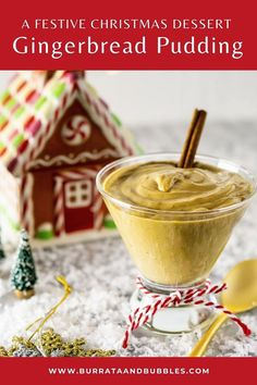 This gingerbread pudding is a festive and easy holiday dessert that the whole family will love. With its rich, creamy custard and gingerbread spice, this pudding will be a new favorite holiday recipe. #gingerbreadpudding #gingerbreadrecipes #puddingrecipes #easyholidaydesserts #puddingdesserts #holidayrecipes #puddingrecipeshomemade