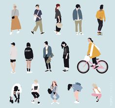 Vector People for Architecture | toffu.co Texture Architecture, Architecture Definition, Architecture People, Paper Architecture, Architecture Visualization, Modern Architecture, Architecture Diagrams, Illustration Parisienne, People Cutout
