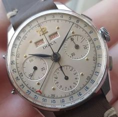 Vintage Chronograph Nice Watches, Vintage Watches, Watches For Men, Herren Chronograph, Man Jewelry, Skeleton Watches, Luxury Watches, Clocks, How To Dress Cool