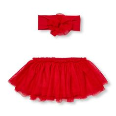 Baby Girls Tutu Skirt And Headwrap Set