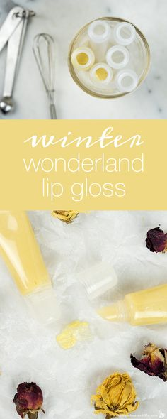 natural lip gloss Pucker up to cooler days with this shimmery homemade Winter Wonderland lip gloss, featuring spearmint essential oil and beeswax for a beautiful wintery kiss How To Make Lipstick, Diy Lip Gloss, Lip Gloss Homemade, Spearmint Essential Oil, Lip Balm Recipes, Brenda, Homemade Moisturizer, Diy Lip Balm, Natural Lips