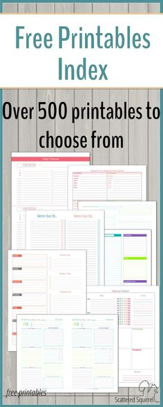 FREE Printable Monthly Bills Organizer Stuff to Try Pinterest