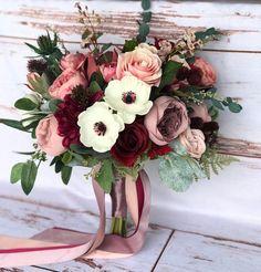 Silk Wedding Bouquets, Blush Wedding Flowers, Fall Wedding Colors, Wedding Flower Arrangements, Bridal Flowers, Flower Bouquet Wedding, Rose Bouquet, Floral Wedding, Silk Flowers