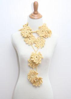 Crocheted Flower Scarf