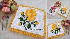 MISIR TEKNİĞİ İLE GÜLLÜ LİF MODELİ YAPILIŞI | Nazarca.com Crochet Potholder Patterns, Knitted Baby Clothes, Crochet Designs, Baby Knitting, Pot Holders, Elsa, How To Make, Crafts, Crochet Ideas