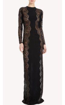 Stella McCartney Long Sleeve Lace Sheath Gown