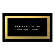 Elegant black and gold business card template for fashion designer thick gold border on black business card template colourmoves