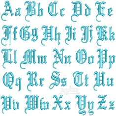 Gothic Embroidery Alphabet Font