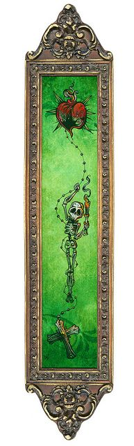 Day of the Dead Art -- The Light of My Heart by David Lozeau