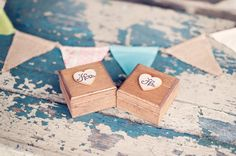 His and Hers Ring Boxes (by PNZ Designs, photo by Melania Marta)