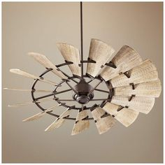 This damp-rated oiled bronze ceiling fan comes complete with fifteen weathered oak finish ABS blades. Style # at Lamps Plus. Industrial Ceiling Fan, Bronze Ceiling Fan, Modern Ceiling, Best Ceiling Fans, Outdoor Ceiling Fans, Windmill Ceiling Fan, Ceiling Fan Makeover, Japanese Home Decor, Girly