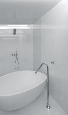 Correia/Ragazzi Arquitectos | Apartment renovation | Braga, Portugal Architecture Design, Minimalist Architecture, Monochrome, Minimalist Bathroom Design, Apartment Renovation, Powder Rooms, Bathroom Interior, Decoration, Portugal
