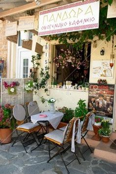 Greek Taverna Thassos Greece
