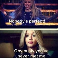 Pretty Little Liars ❤️ lol Preety Little Liars, Pretty Little Liars Quotes, Pll Memes, Nobodys Perfect, Best Shows Ever, Funny Moments, I Laughed, Favorite Tv Shows, Fangirl