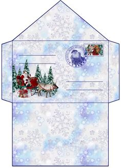 Шаблон конверта Деду Морозу Winter Christmas, Christmas Crafts, Christmas Decorations, Xmas, Christmas Envelopes, Christmas Stationery, Christmas Templates, Christmas Printables, Diy And Crafts
