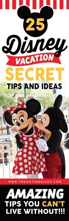 25 Disney Vacation Secret Tips and Ideas