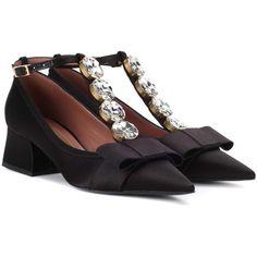 Marni Crystal-embellished Satin Pumps In Blue Marni Shoes, Embellished Shoes, Decorated Shoes, Fab Shoes, Satin Pumps, Black Pumps, Shoes Online, Designer Shoes, Footwear