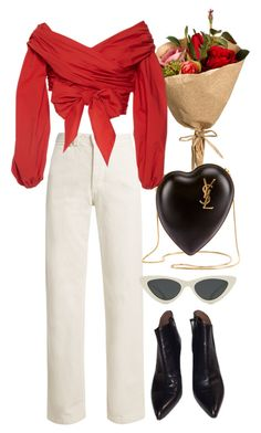 """""""Valentine's Day"""" by nikka-phillips ❤ liked on Polyvore featuring Rachel Comey, Yves Saint Laurent, Johanna Ortiz, Alaïa and Le Specs"""