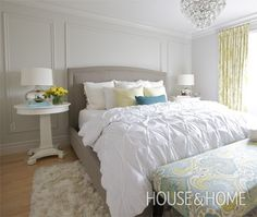 Photo Gallery: Budget Decorating Ideas   I love this look for the #bedroom, you can almost feel the peace it offers #homedesign