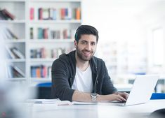 student preparing exam and learning lessons in school library, making research on laptop and browse internet , Travel Rewards, Rewards Credit Cards, Right Time, British Airways, Technology Logo, Student, This Or That Questions, Learning, Laptop