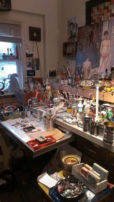 A Real artists studio; Mary-Lynne Moffatt Art....Gorgeous, what I hope my art studio looks like one day!!