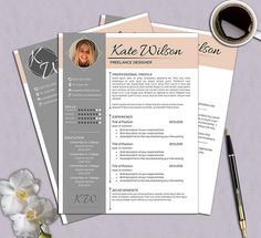 Creative Resume Template | CV Template | Cover Letter | For MS Word / IWork  | Instant Download | Modern Resume Design | Mac / Pc | Professional Resume  ...