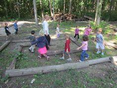 Log mazes by Teach Preschool
