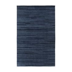 Visby Navy Rug | Featuring variegated lines in tonal neutrals, the Visby Rug brings dimension to any floor. 100% wool is hand-knotted for lasting quality and enduring style.