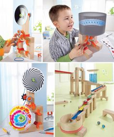 New from Haba – construction fun and optic effects in motion. And everyone's favourite ball track is now musical.