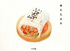 原创作品:手绘武汉美食 @弥璃采集到美食(370图)_花瓣插画/漫画
