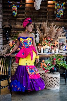 African fashion is available in a wide range of style and design. Whether it is men African fashion or women African fashion, you will notice. African Bridesmaid Dresses, African Wedding Attire, African Dresses For Women, African Print Dresses, African Fashion Dresses, African Attire, African Prints, African Clothes, African Traditional Wedding Dress