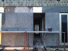 Green stone while constructing. Back side. Hanzenatie Cadix Antwerpen #mikeviktorviktor