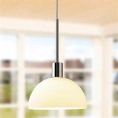 Vienda pendant lamp - white-glass - Herstal