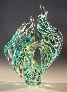 Emerald Wing, Laurel's Signature Woven Glass LAUREL MARIE HAGNER