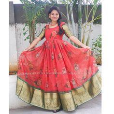 Long Gown Dress, Saree Dress, Long Dress Design, Stylish Sarees, Half Saree, Indian Ethnic, Ethnic Fashion, Anarkali, Designer Dresses