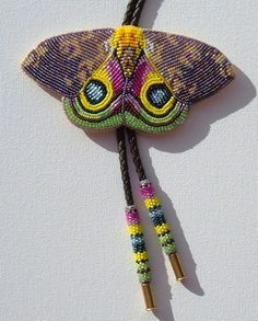 Todd Bordeaux  Beaded Moth Todd Bordeaux  Sicangu Lakota  Beadwork, mixed media, sculpture