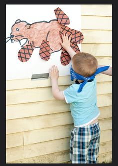 Pin the tail on the beaver Toddler Class, Kids Class, Toddler Fun, Scout Activities, Animal Activities, Activities For Kids, Animal Crafts, Daycare Themes, Preschool Themes