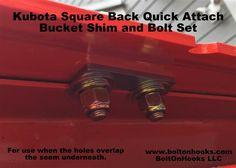 Ken's Bolt on Grab Hooks <<Kubota Hooks>> Kubota Compact Tractor, Compact Tractors, Tractor Accessories, Kubota Tractors, Tractor Attachments, Hooks, Outdoor Projects, Buckets, Farm Life