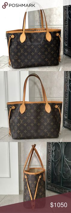a954e37ad5 Authentic Louis Vuitton Monogram Neverfull PM This PreLOVED Authentic Louis  Vuitton Monogram Neverfull PM is beautiful