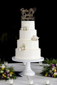 Gold Cake Topper, Wooden Cake Toppers, Acrylic Cake Topper, Custom Cake Toppers, Custom Cakes, Wood Cake, Elegant Wedding Cakes, Beautiful Wedding Cakes, Elegant Cakes