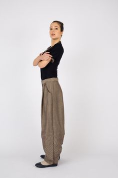 Art 31 Pantalone Pigna. Wide leg trousers by LoSpaventapasseri