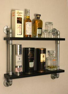 FreddyKanova: Whisky Display Temperguss Rohr Regal Industrial Style
