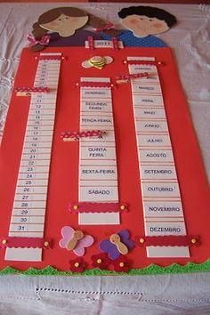 CRIS ARTES EM E.V.A: painel calendario para sala de aula