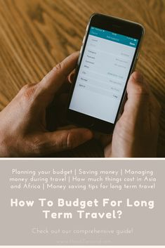 How to Budget For Long Term Travel? Planning your budget