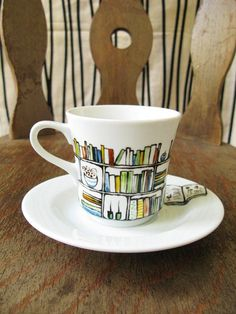 Book club library mug
