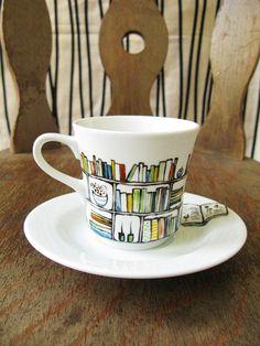 Book club library mug