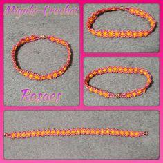 Miyuki&CrochetRosaes: PULSERA FLORECITAS Pulsera de florecitas, realiza...