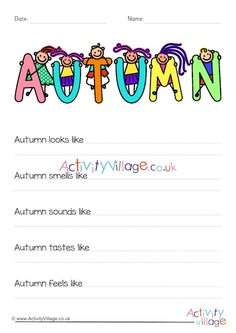 Can the children write some similes to produce a sensory poem about Autumn? Our guided worksheet will help make it easier. Date, Simile Poems, Activity Village, Class Books, Autumn Activities For Kids, Autumn Scenes, Autumn Crafts, Kids Writing, Printable Worksheets